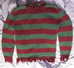 Freddy Krueger vs Jason Style Sweater Heavy Hand Made Custom RARE One of A Kind