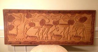 Big 4ft Story Board Wood Carving Wall Art Native Tiki Bar