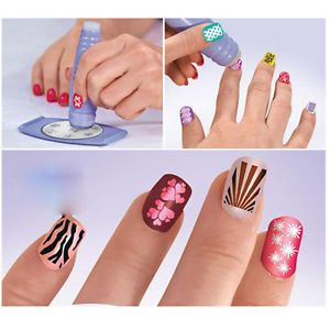 Professional Salon Nail Art Stamp Polish Nail DIY Stamping Design Decorate Kit