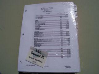 Case 580 Super K 580SK Loader Backhoe Service Manual