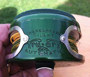 Vintage Shakespeare Silent Tru Art Automatic Fly Fishing Reel No 1837 Good Shape