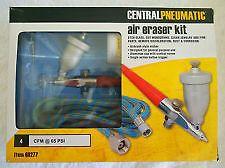 Central Pneumatic Air Eraser Kit Etching Glass Airbrush Hobby Art Kit