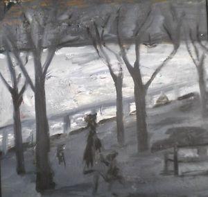 Frances Hodgkins Oil on Paper NewZealand British Signed RARE Naive Art