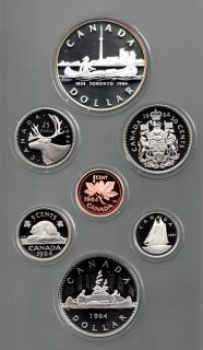 1984 Canadian 7 Coin Double Dollar Proof Toronto Set