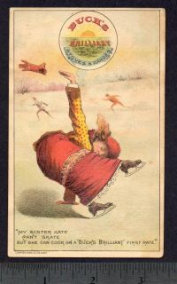 1800's Buck's Stove Range St Louis Ice Skate Poem Card