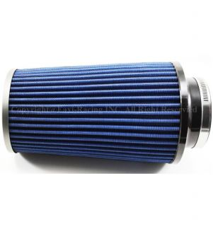 """4"""" inch 101mm Air Dry Filter Inlet Universal Cone Truck Intake Blue"""