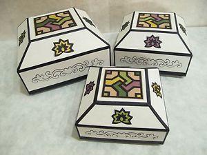 Korea Traditional Paper Handmade Square Box Set Hanji Art Rice Paper KSW