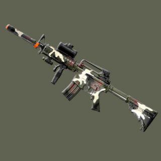 M16 M4 Airsoft Rifle Full Semi Auto Electric BB Gun Flashlight Laser Camouflage