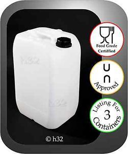 3X New 25L 25 Litre Plastic Water Containers Food Grade Drum Gerry Jerrican