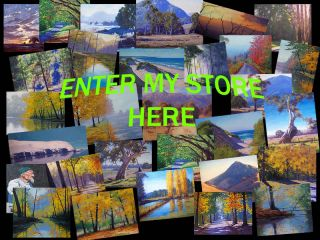 Large 30 x 20 Pink Trees River Landscape Impressionism Original Oil Painting