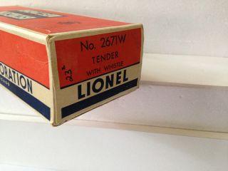 Lionel 2140WS de Luxe Passenger Set 671 Steam Turbine Engine 2671W 3 Cars 1948