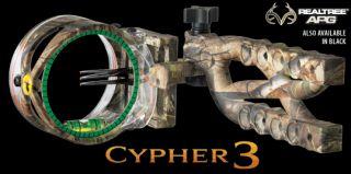 Trophy Ridge Cypher 3 Bow Sight 3 Pin Realtree Camo