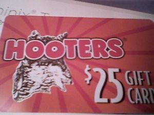 Hooters Restaurant Gift Card