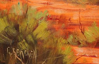 Gercken Monument Valley Landscape Desert Utah Canyon Original Art Oil Paintings