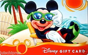 "Disney Gift Card ""Mickey Summer"" Collectible No Value 2011"