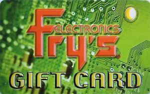 Fry's Gift Card Collectible No Value
