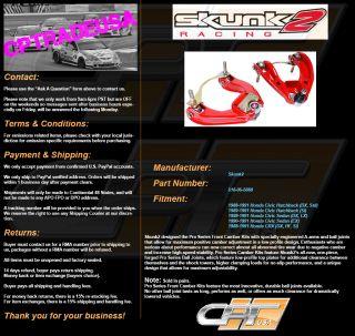 SKUNK2 Front Camber Kit Pro Plus 88 91 Honda Civic CRX EF 516 05 5660
