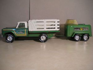 Vintage 1960s Nylint Pressed Steel Toy Truck Horse Trailer Rockford Ill USA