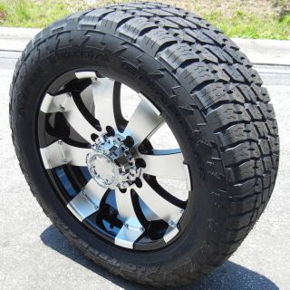 "20"" Black Ultra Wheels Rims Nitto Terra Tire Chevy Silverado GMC 2500 3500 8x180"