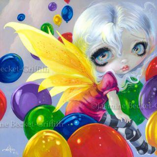 Fairy Balloon Jasmine Becket Griffith Original Painting Big Eye Fantasy Art Cute