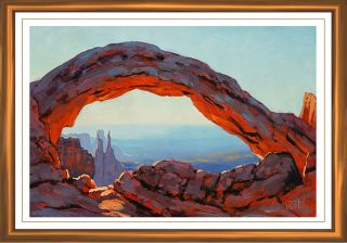 Gercken Mesa Arch Desert American Canyon Landscape Utah Original Oil Painting