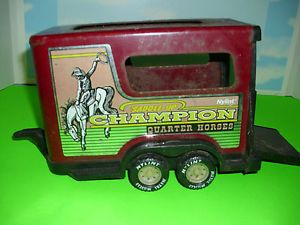 Vintage Nylint Champion Quarter Horse Red Trailer