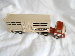 Tonka Mini Tonka Semi Truck Horse Trailer Livestock Trailer