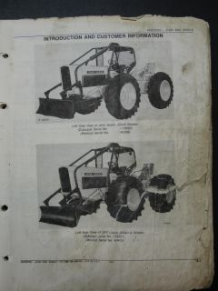 John Deere JD 540 JD540A Skidder Parts Manual Book Catalog PC1096