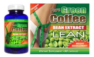 Pure Green Coffee Bean Extract Lean Weight Loss Diet Pills with Raspberry Ketone