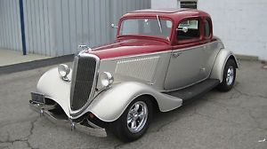 1934 Ford 5 Window Coupe Hot Rod Street Rod 302 Automatic Vintage Air