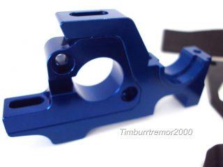 New Associated RC8 2E ft Aluminum Blue Sliding Motor Mount Diff Housing 89529
