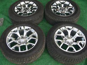 "2014 GMC Sierra Denali 1500 Factory Chrome 20"" Wheels Goodyear Tires Set 14"