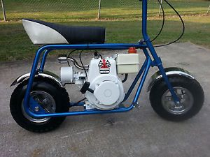Ruttman Mini Bike Vintage Bike Restored 4 HP Tecumseh Engine Blue Pearl Paint