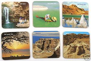 Dead Sea Coasters Souvenir of Spa Body Treatment Beauty Salt Minerals Mud