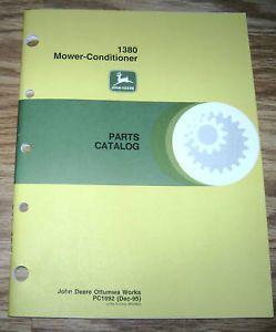 John Deere 1380 Mower Conditioner Parts Catalog JD