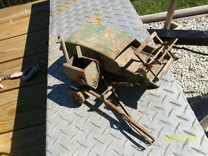 Vintage John Deere Pressed Steel Combine Toy Parts