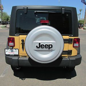 "2007 2014 Jeep Wrangler Molded ""Jeep"" Logo Spare Tire Cover Mopar"