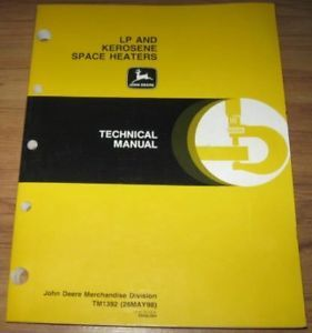 John Deere LP Kerosene Space Heaters Technical Manual