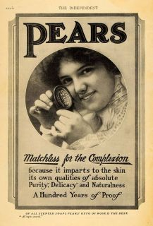 1910 Ad Pears Soap Complexion Skin Care Beauty Toiletry Original Advertising