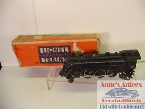 Vintage 1940s Lionel Train 224 Steam Locomotive Cast Rail Road Engine w Box