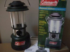 Coleman Battery Operated 2 Fluorescent Bulb Camp Lantern