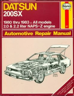 1980 1981 1982 1983 Datsun 200SX and Naps Z Engine Repair Manual