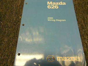 2000 Mazda 626 Electrical Wiring Diagram Service Repair Shop Manual Factory