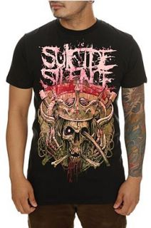Suicide Silence Skull Crown Slim Fit T Shirt 2XL