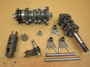 2006 06 Ninja EX 650 EX650 Engine Transmission Tranny Gear Gears Shift Drum Fork