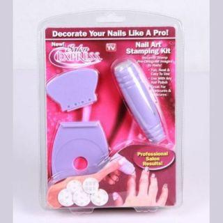 Hot DIY Beauty Nail Art Stamping Kit Decals Image Plate Polish Nail Care Design