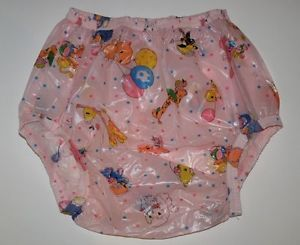 Adult Baby Plastic Pull on Pants PVC Incontinence Size 3XS 2XL