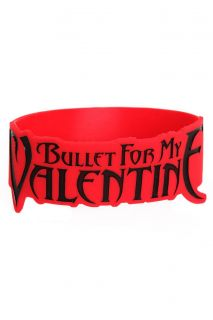 Bullet For My Valentine Die Cut Rubber Bracelet