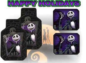 Nightmare Before Christmas Car Floor Mats 4pc Jack Skellington Disney Truck SUV