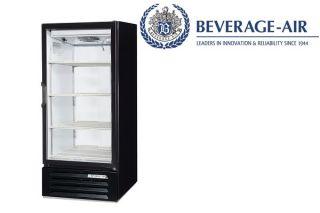 Beverage Air Commercial Refrigerator Lumavue Glass Door Merchandiser 10 CU ft H